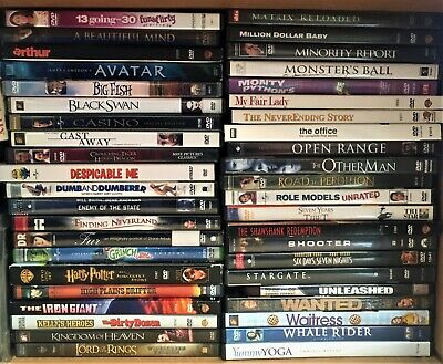$1-$1.25 DVD MOVIES You Pick w/Cases CHEAP COMBINED SHIPPING Many to Choose From
