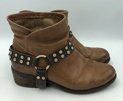 UGG Australia Darling Whiskey Brown Western Ankle Boots Womens Sz 8.5 - Ugg Darling