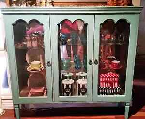 Vintage China Display Cabinet Cupboard Paris Apt Shabby Chic St Helena Banyule Area Preview