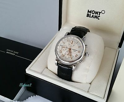 Montblanc Star Platinum GMT Chronograph Automatic Watch, New Condition.