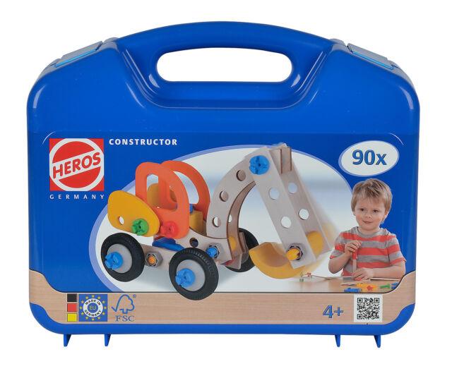 HEROS 100039086 - Constructor Bagger im Koffer 90-teilig * NEUHEIT *