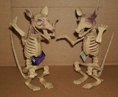 Two Life Size Plastic Rat Skeleton Replica Halloween Prop Decoration Dead Rodent - Skeleton Plastic Life Size