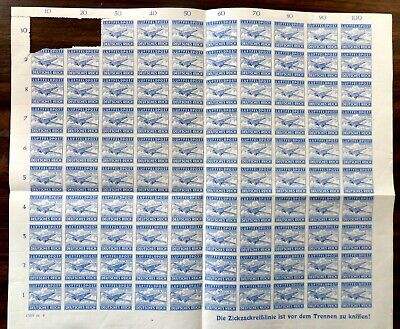 GERMANY WWII MILITARY FELDPOST STAMP SHEET NH # MQ1 2 STAMPS MISSING 2 DAMAGED