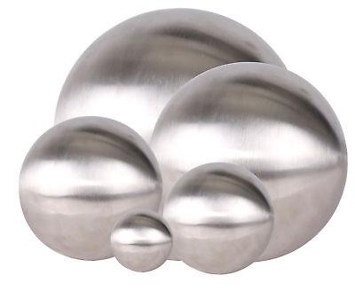 Edelstahl Dekokugel matt gebürstet - 3 Größen - Gartenkugel Schwimmkugel Kugel