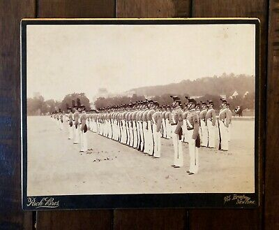 HUGE 10x7 Imperial Mount 1890s Military Cadet Soldiers - West Point? by Pach NY