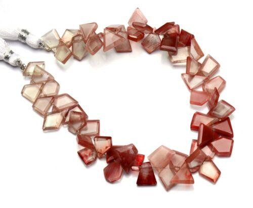 """Natural Gem Andesine Labradorite Faceted Slice Shape Beads 8.5"""" Strand 83Cts."""