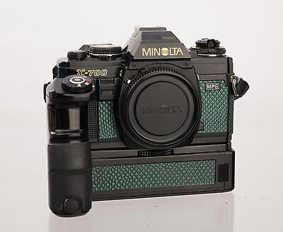 Minolta X700 W/ Motor Drive 1 Replacement Cover - Laser Cut Recycled Leather
