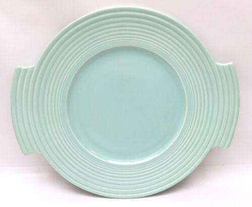 May & Vieve Hamilton Vernon Kilns Pottery RIPPLED Pistachio Platter Art Deco