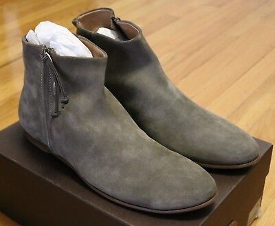 Buttero Suede Side Zip Chelsea Boots Size 45 / 12 Brand New in Box