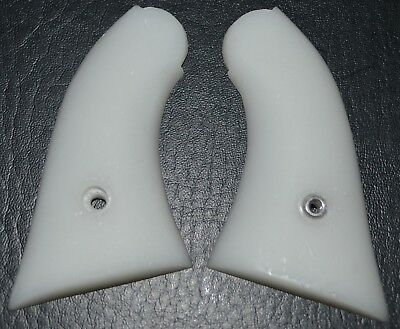 Uberti 1858 small grip frame pistol grips white plastic with screw for sale  Gabbs