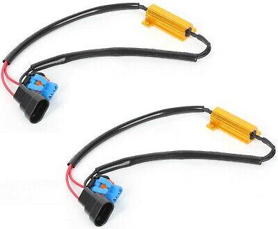 Wire LED Resistor Canceler Error Decoder 9006 HB4 Head Light Bulb Flicker Lamp