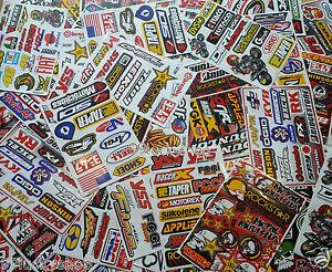 15 Mixed Sheets  Stickers Random Motocross Car ATV Racing Dirt Bike Helmet Decal