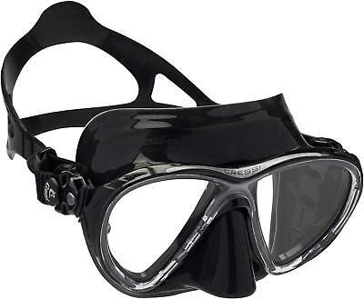 Cressi Unisex - Erwachsene Taucherbrille Big Eyes Evolution schwarz dark DS33...
