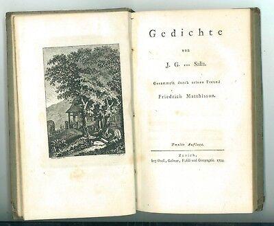 VON SALIS JOHANN GAUDENZ GEDICHTE ZURICH ORELL GESSNER FUSSLI 1794 ZWEITE AUFLAG