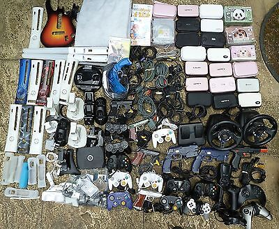 MASSIVE JOB LOT VIDEO GAMES CONSOLE ACCESSORIES Untested Faulty XBOX 360 PS2 Wii