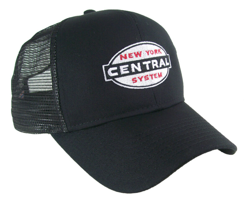 New York Central Cigarband Logo Embroidered Railroad Mesh Cap Hat #40-0062m