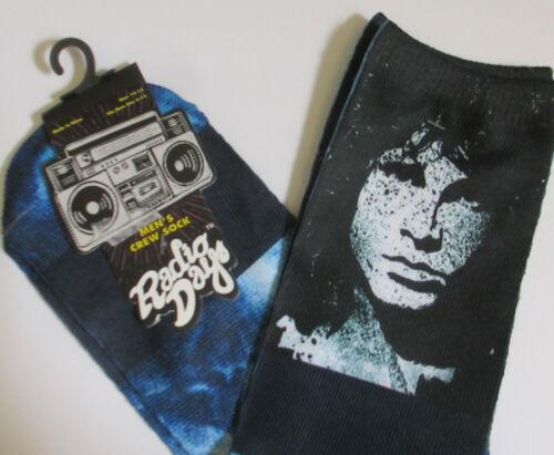DOORS JIM MORRISON 2017 Tie Dye Crew Socks - Licensed Mens Radio Days, Size 6-13
