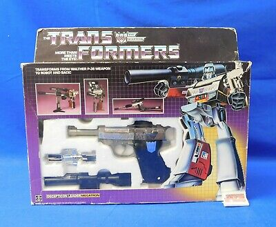 Vintage 1984 Megatron Toy Transformers G1 Pre Rub Hasbro in Box