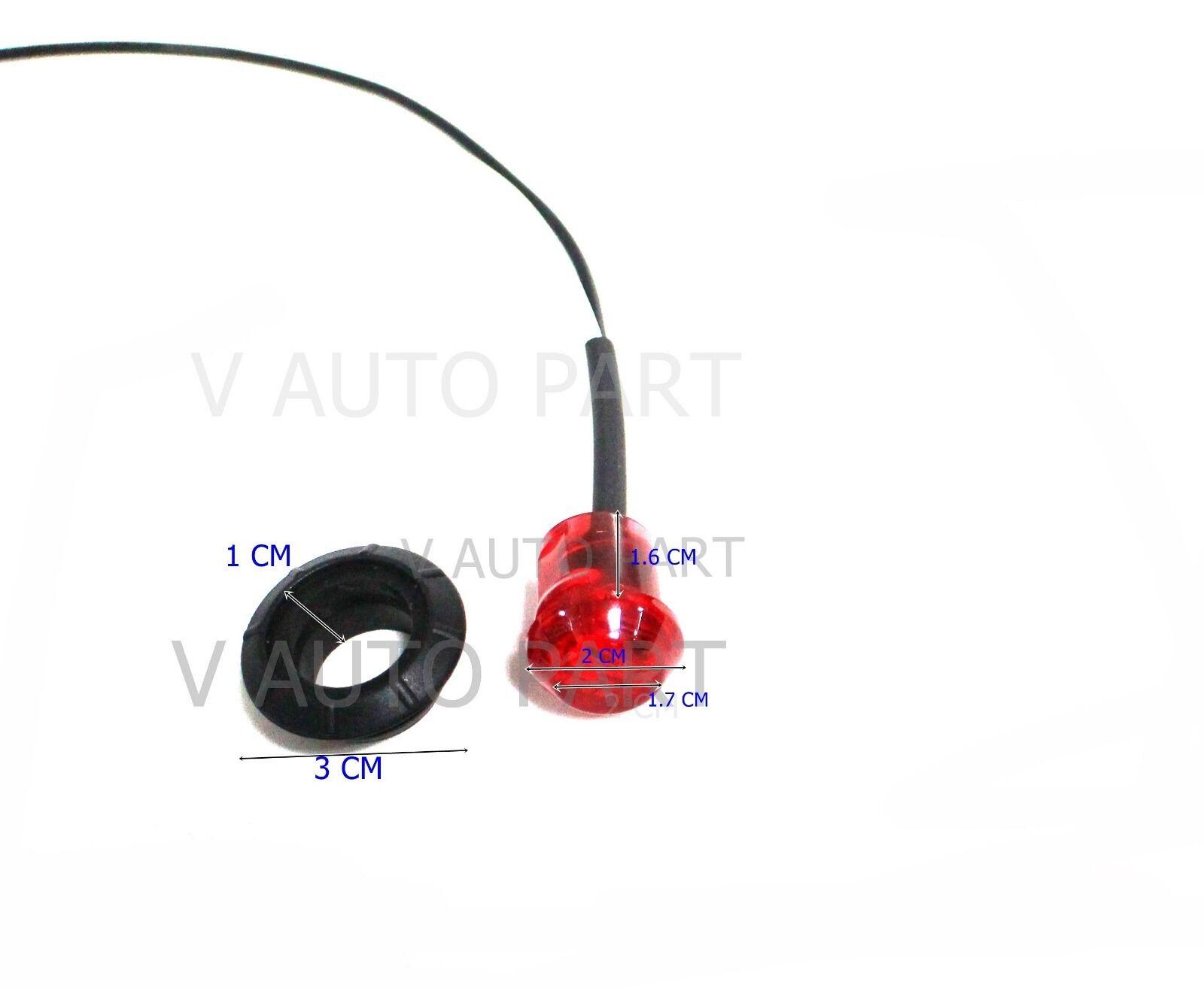 100 mini 12v red 3  4 u0026quot  round side led marker trailer bullet