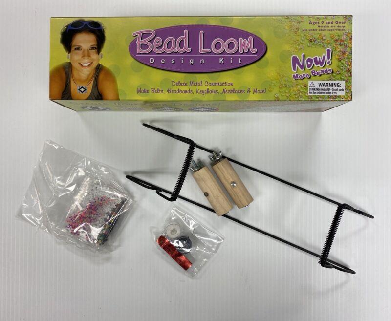 Bead Loom Kit For Making Bead Belts Headbands Fobs Necklaces Bracelets NIB