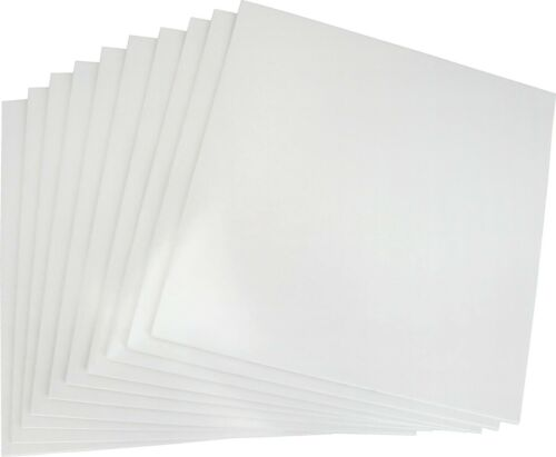 """(10) 12"""" Record Jackets - Glossy White Vinyl LP Replacement Album Covers #12JW"""