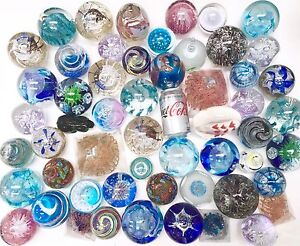 Lucky Dip Joblot 10 Beautiful Handmade Large Glass Paperweights Wholesale Gift