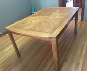 Wood Table with Leaf