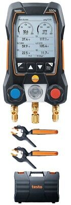 Testo 550s Smart Digital Manifold Kit With Wireless Temperature Probes -14 To