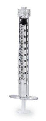 10ea 1cc Luer Lock Syringes Tuberculin 1ml Sterile New Syringe Only No Needle