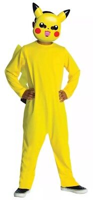 Pikachu Pokemon Halloween Costume Boys Toddler Size 2-4T Rubies Yellow Kids Mask