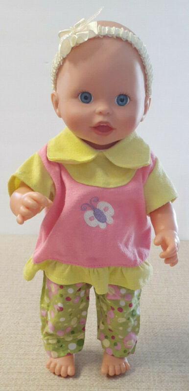 """2005 Mattel Fisher Price 12"""" Scrub A Dub Little Mommy Doll *Vinyl Jointed"""