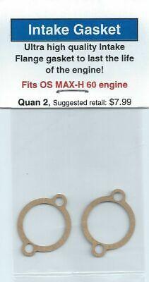 OS MAX-H 60 Carburetor//Intake Gasket 2 Pack NIP