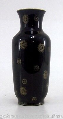 Kobalt Blattgold Vase handarbeit Höhe 27 cm
