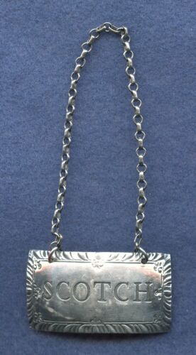 STIEFF ~ STERLING SILVER SCOTCH DECANTER TAG