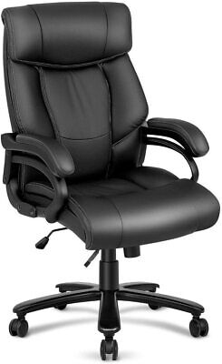 High Back Executive Office Chair Big Tall 400lbs Leather Computer Desk Chair