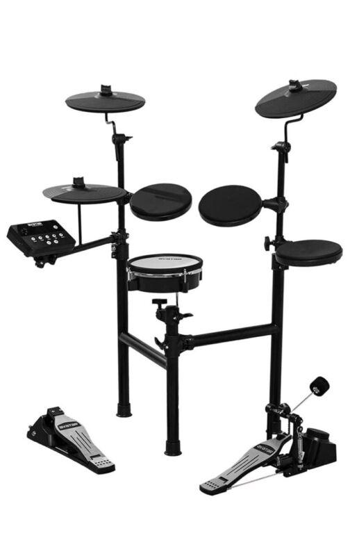HXW SD61-2 Juego de tambor eléctrico compacto de 8 piezas, 200 sonidos
