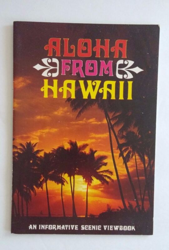 Vintage 1970s Aloha from Hawaii Photo Booklet Scenic View Book Tourist Guide