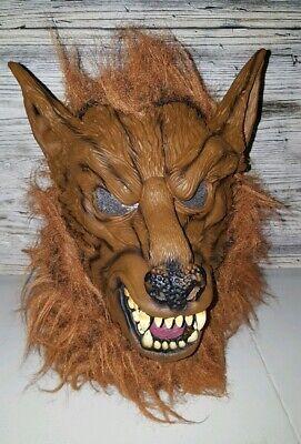 Vintage Werewolf Rubber Latex Mask Halloween Scary Wolf Warewolf Monster Dog - Scary Halloween Werewolf