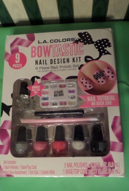 L. A. COLORS Bowtastic Nail Design Kit - Bowtastic 9pc Nail Polish Set - La Colors Bowtastic Nail Design Kit 32022 EBay