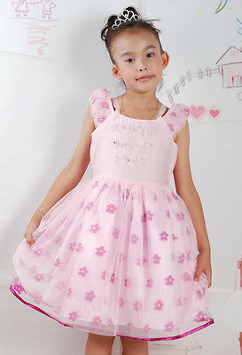 Pale Yellow Flower Girl Dresses (Flower Girl Party Dress in Pink Pale Yellow 18 Months to 5)