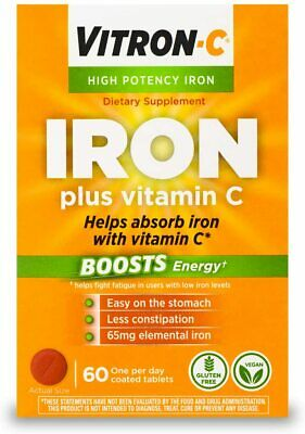 Vitron-C High Potency Iron Supplement with Vitamin C | Boost