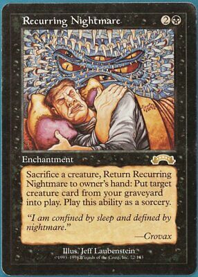 Recurring Nightmare Exodus PLD Black Rare MAGIC MTG CARD (ID# 165923) ABUGames