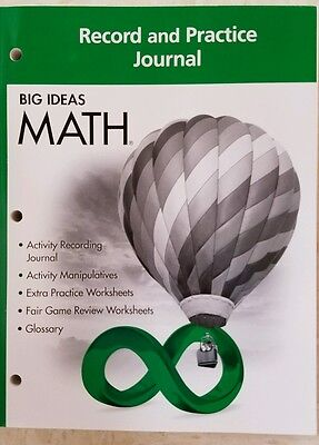 (Big Ideas Math Green Class set of 25  Record and Practice Journal Green Grade 6)