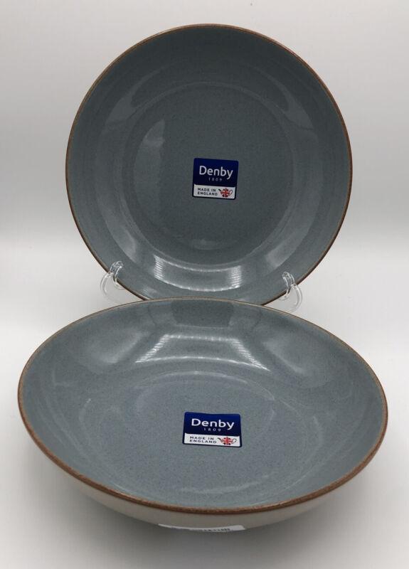 "Denby Heritage Terrace Pasta Bowls 8.5"" Set of 2 NEW"