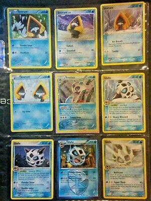 Pokemon Card/Tarjeta 4 Snorunt, 4 Glalie, 1 Froslass Card