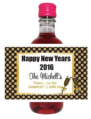 24 Champagne Toast  Mini Wine Bottle Labels Weddings, Showers,Birthday - Champagne Bottle Labels