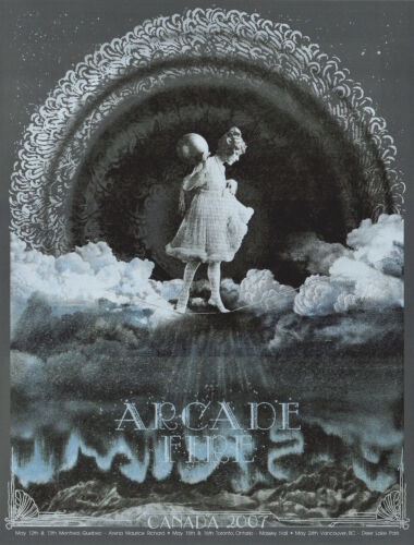 MINT & SIGNED Arcade Fire 2007 Canadian Tour Burlesque Poster