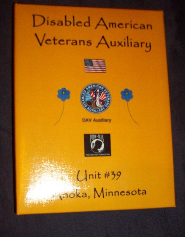 DAV Unit #39, Anoka, Minnesota Cookbook (2007, Spiral)