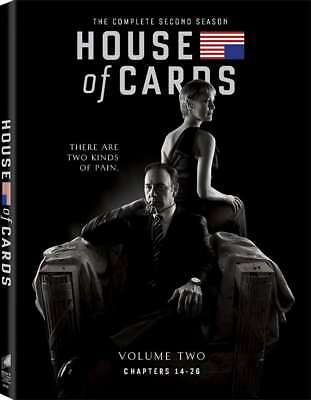 New  House Of Cards   The Complete Second Season  4 Dvd Set
