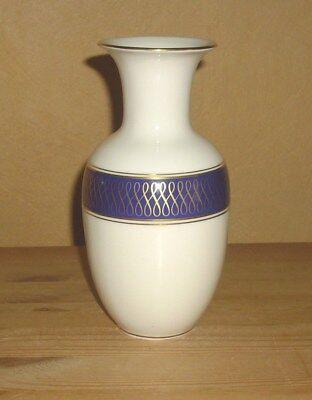 Royal Porzellan Bavaria KM 1 Vase, Tischvase, Blumenvase, Kobaltblau Handarbeit  ()
